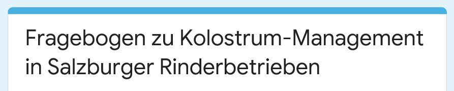 """Link zur Umfrage """"Kolostrum-Mangement"""""""